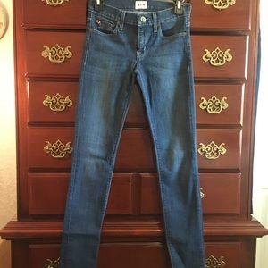 """Hudson skinny jeans Size24""""small denim is stretch"""